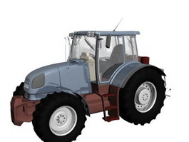 Low powered tractor 3d model