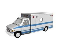 Motor ambulance 3d model