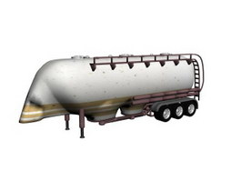 Volume tanker trailer 3d model