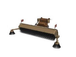 Street Sweep Truck 3d model
