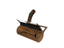 Rotary snow-plough 3d model