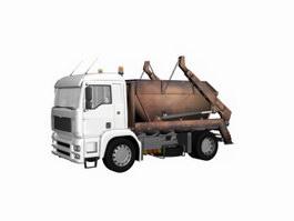 Barreled garbage carrier 3d model