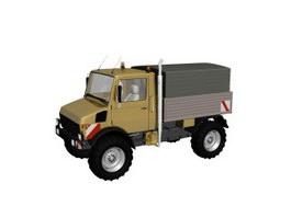 Small pickup truck 3d model