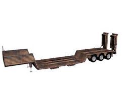 Heavy Equipment Trailer 3d model