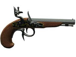 BUCCAN Flintlock Pistol 3d model