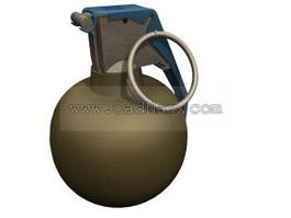 Throwing grenades 3d model