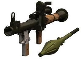 Rocket Propelled Grenade 3d model