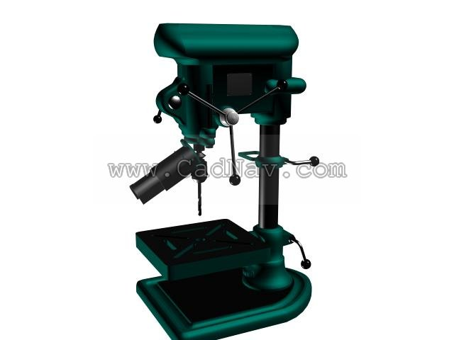 Hand Bench Drill 3d Model 3dsmax Files Free Download