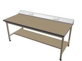 Woodworking workbench 3d model