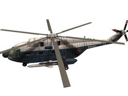 Super Frelon SA321 helicopter 3d model