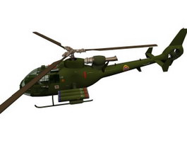 Gazelle anti-armour helicopter 3d model