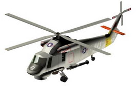 SH-2F Seasprite Anti-submarine warfare helicopter 3d model
