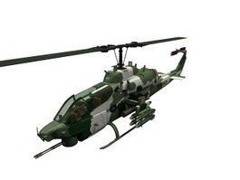 AH-1W SuperCobra attack helicopters 3d model