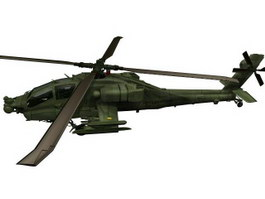 Apache AH-64 attack helicopter 3d model