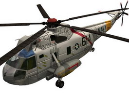 Navy SH-3H Sea King helicopters 3d model