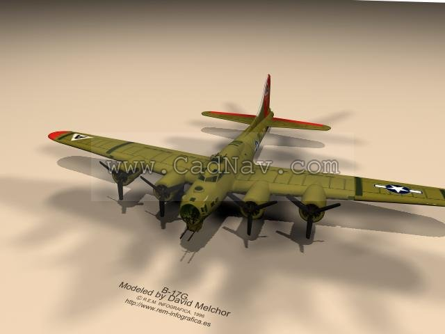 Boeing B 17 Flying Fortress 3d Model 3ds Max Files Free