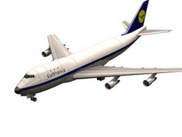 Boeing 747 aircraft 3d model