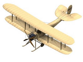 B.E.2 Royal Aircraft 3d model