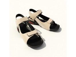 Summer Mens leather Sandal Shoes 3d model