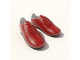 Genuine leather men dress shoes 3d model