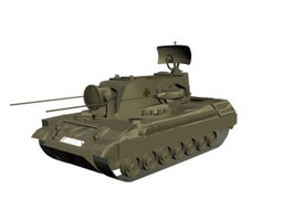 Anti-aircraft tank 3d model