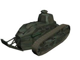 French Renault FT17 light tank 3d model