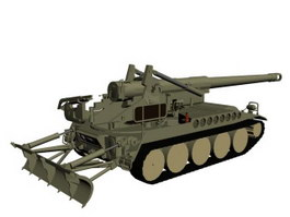 M110A2 Self-Propelled Howitzer 3d model