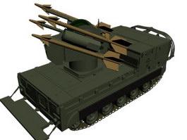 M7 Priest self-propelled artillery vehicle 3d model