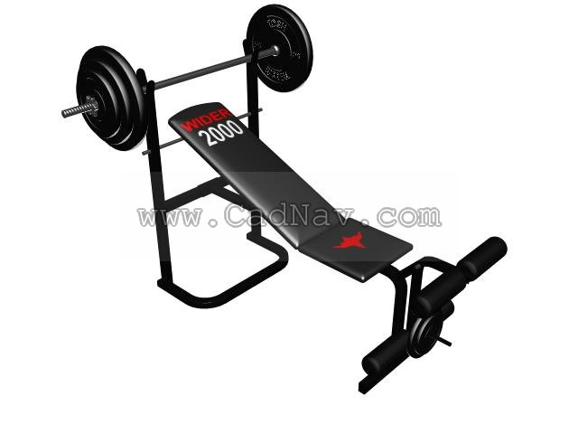 Multi Adjustable Weight Bench 3d Model 3ds Max Files Free