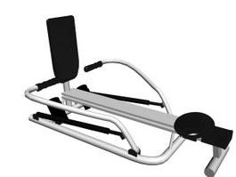Indoor Rowing Machine 3d model