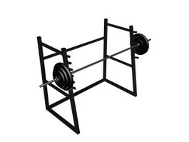 Smith machine weight Barbell Gym Equipment 3d model