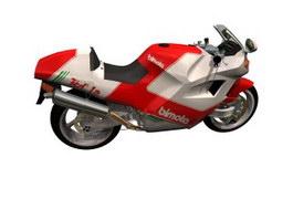 Bimota Tesi 1D 906SR Racing motorcycle 3d model