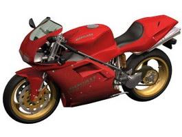 Ducati 916 sport bike motorcycle 3d model