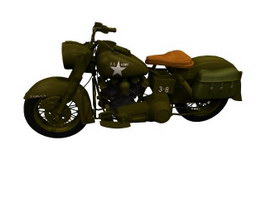 Harley-Davidson XA Military motorcycle 3d model