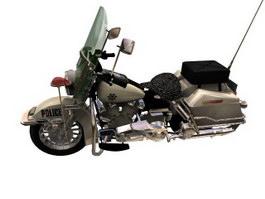 Harley-Davidson FL Softails Police motorcycle 3d model