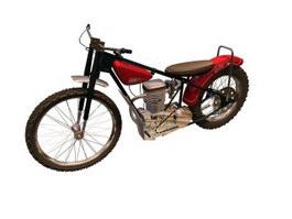 JAWA 250 motorcycle 3d model