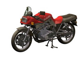 Suzuki Katana GSX 1100 motorcycle 3d model