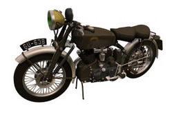 Vincent Black Shadow motorcycle 3d model