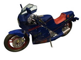 SUZUKI Walter Wolf Racing Motorcycle 3d model