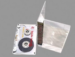 Magnetic tape cassette 3d model