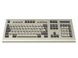 Standard computer keyboard 3d model