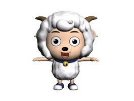 Pleasant Goat cartoon modelling 3d model