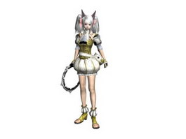 Pretty Soldier 3d model