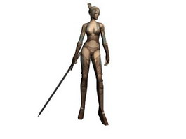 ZerA 3D MMORPG Woman Warrior 3d model