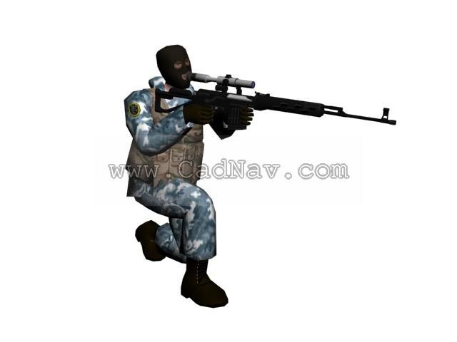 Counter-Strike Terrorist Arctic Avengers 3d model - CadNav