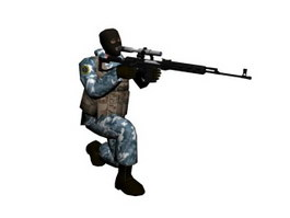 Counter-Strike Terrorist Arctic Avengers 3d model