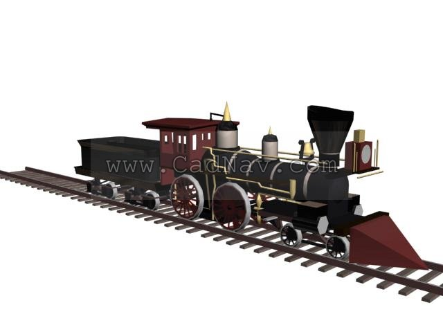Old Fashioned Train 3d Model 3dsmax 3ds Files Free