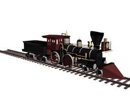 Old-fashioned train 3d model