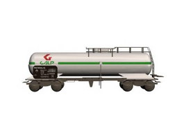 Freight train tank car 3d model