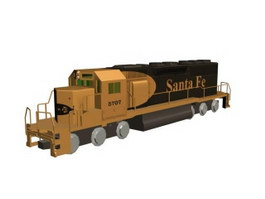 Diesel locomotive 3d model